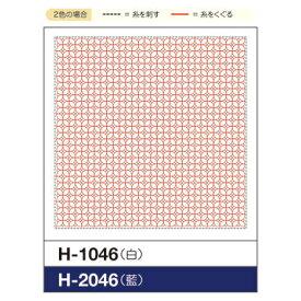 オリムパス 刺し子 くぐり刺しの花ふきん布パック  朝顔 (白)H-1046