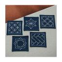 オリムパス 刺し子キット (紺)コースター5枚1組 223   伝統柄