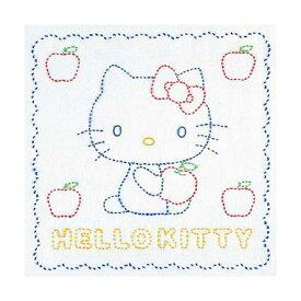 オリムパス 刺し子花ふきんキット(白)サンリオ ハローキティとりんご 205