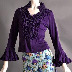 【c66】フラメンコ衣装フラメンコカットソー50879523MサイズLサイズ社交ダンスダンス衣装トップスパーティー社交ダンス衣装Flamenco大きいサイズあり