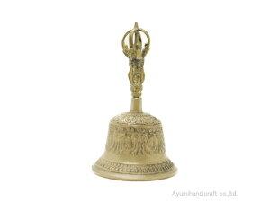 チベット密教法具ガンダーベル・金剛鈴(gb001・口径約12cm 高さ約20cm)