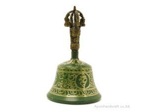 チベット密教法具ガンダーベル・金剛鈴(gb007・口径約9cm 高さ約15cm)