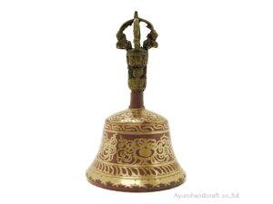 チベット密教法具ガンダーベル・金剛鈴(gb009・口径約9cm 高さ約15cm)