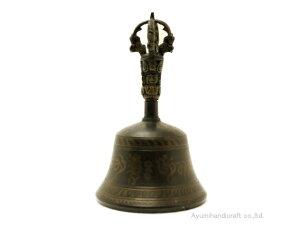 チベット密教法具ガンダーベル・金剛鈴(gb027・口径約9cm 高さ約15cm)