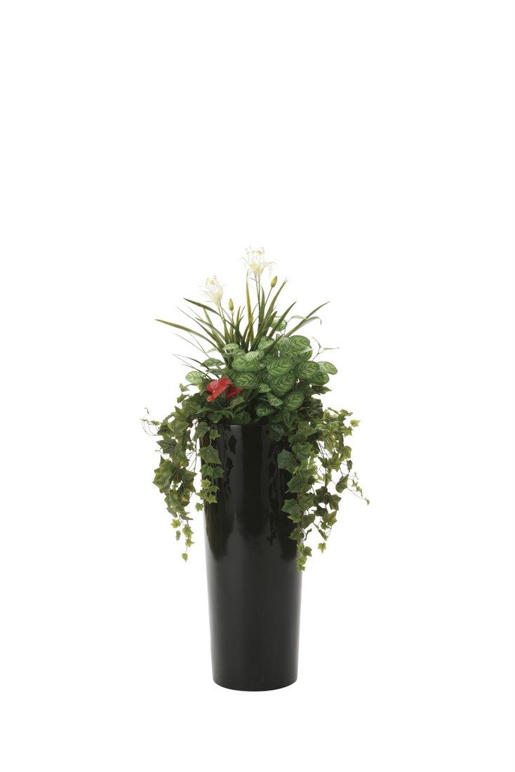 【光触媒観葉植物】寄せ植えユッカ1.3〔フロアタイプ(ハイサイズ)〕/光触媒 観葉植物 フェイクグリーン 花 胡蝶蘭 開店祝い 開業祝い 誕生祝い 造花 アートフレーム おしゃれ 5Lサイズ