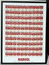 ポップアート 名画 アンディ ウォーホル 100個のスープ缶(1962)/額入り 絵画 絵 壁掛け アート リビング 玄関 トイレ …