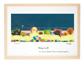 版画 絵画 ゆっくり眠ろう MiniSaya/インテリア 壁掛け 額入り 風景画 ポスター アート アートパネル リビング 玄関に飾る 風水 プレゼント モダン アートフレーム 寝室 油絵 おしゃれ Mサイズ