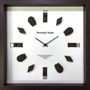 【時計】ディスプレイ クロック チョコレート スタイル 2/掛け時計 ウォールクロック インテリア 壁掛け ギフト プレゼント 新築祝い おしゃれ 飾る かわいい チョコ Mサイズ 巣ごもり