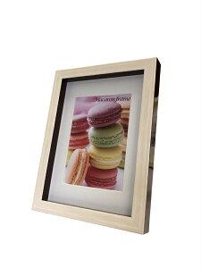 フォトフレーム ゆうパケット マカロンフレームI ブラウン 2L L判サイズマット付(Macaron frame Brown)/額入り 絵画 絵 壁掛け アート リビング 玄関 トイレ インテリア かわいい 壁飾り 癒やし プレ