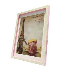 フォトフレーム ゆうパケット マカロンフレームI ピンク A4 B5サイズマット付(Macaron frame Pink)/額入り 絵画 絵 壁掛け アート リビング 玄関 トイレ インテリア かわいい 壁飾り 癒やし プレゼント ギフト アートパネル ポスター アートフレーム おしゃれ Sサイズ