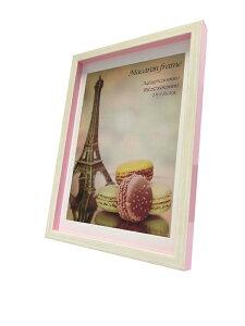フォトフレーム ゆうパケット マカロンフレームI ピンク A4 B5サイズマット付(Macaron frame Pink)/額入り 絵画 絵 壁掛け アート リビング 玄関 トイレ インテリア かわいい 壁飾り 癒やし プレゼン