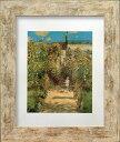 名画アートフレーム ヴェトゥイユの画家の庭 クロード・モネ(Claude Monet)/額入り 絵画 絵 壁掛け アート リビング …