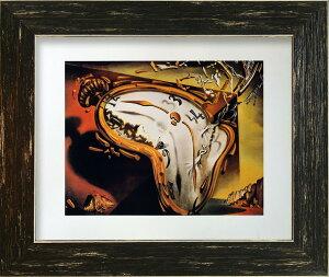 名画アートフレーム 柔らかい時計 サルバドール・ダリ(Salvador Dari)/額入り 絵画 絵 壁掛け アート リビング 玄関 トイレ インテリア かわいい 壁飾り 癒やし プレゼント ギフト アートパネル