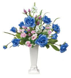 アートフラワー 造花 フレンチブルー〔テーブルタイプ〕/光触媒 観葉植物 ウンベラータ フェイクグリーン 花 胡蝶蘭 開店祝い 開業祝い 誕生祝い 造花 アートフレーム おしゃれ 飾る LLサイズ