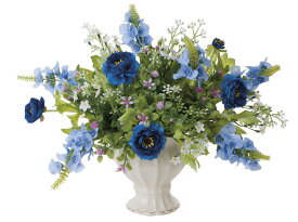 アートフラワー 造花 ツインブルー/光触媒〔テーブルタイプ〕/光触媒 観葉植物 ウンベラータ フェイクグリーン 花 胡蝶蘭 開店祝い 開業祝い 誕生祝い 造花 アートフレーム おしゃれ 飾る 5Lサイズ