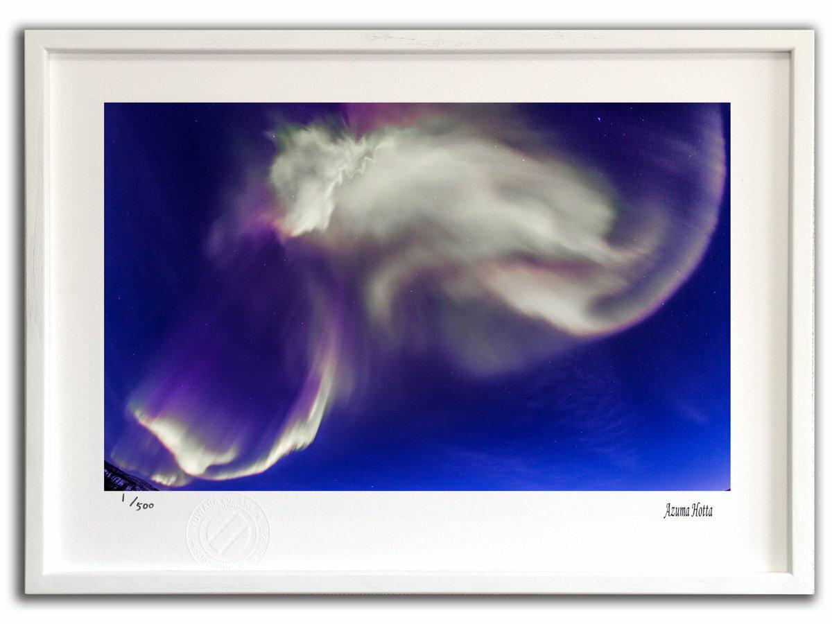 【版画 絵画】オーロラ爆発003 アラスカ/インテリア 壁掛け 額入り 油絵 ポスター アート アートパネル リビング 玄関 プレゼント モダン アートフレーム おしゃれ【M】