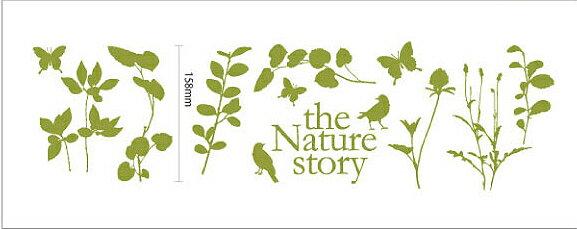 ウォールステッカー Nature story Bird ミニウォールステッカー/インテリア 壁掛け 額入り 油絵 ポスター アート アートパネル リビング 玄関 プレゼント モダン アートフレーム おしゃれ Sサイズ