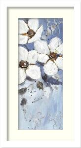 絵画 VALENTINE BLUE BLISS I(ブルー ブリス1)/インテリア 壁掛け 額入り 額装込 風景画 油絵 ポスター アート アートパネル リビング 玄関 プレゼント モダン アートフレーム おしゃれ 飾る LLサイズ