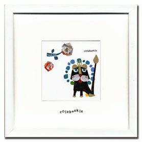 【アートフレーム】【ゆうパケット】Colobockle18(コロボックル)/インテリア 壁掛け 額入り 油絵 ポスター アート アートパネル リビング 玄関 プレゼント モダン アートフレーム おしゃれ【M】