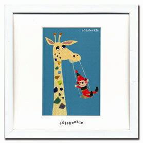 【アートフレーム】【ゆうパケット】Colobockle2(コロボックル)/インテリア 壁掛け 額入り 油絵 ポスター アート アートパネル リビング 玄関 プレゼント モダン アートフレーム おしゃれ【M】