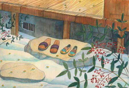 【絵画】豆まき/インテリア 壁掛け 額入り 油絵 ポスター アート アートパネル リビング 玄関 プレゼント モダン アートフレーム おしゃれ【M】