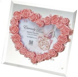 フォトフレーム ゆうパケット エターナリーローズ フォトフレーム ライトピンク/インテリア 壁掛け 立てかけ 記念 写真 飾り ギフト プレゼント 出産祝い 結婚祝い 写真立て おしゃれ 飾る かわいい Sサイズ