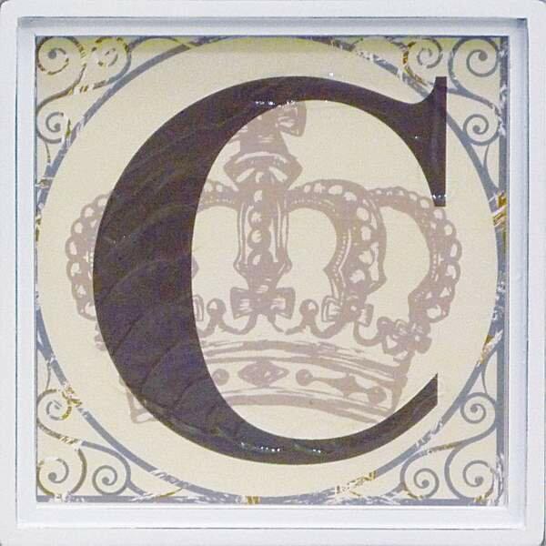 アルファベット アートフレーム C/インテリア 壁掛け 額入り 油絵 ポスター アート アートパネル リビング 玄関 プレゼント モダン アートフレーム おしゃれ【S】