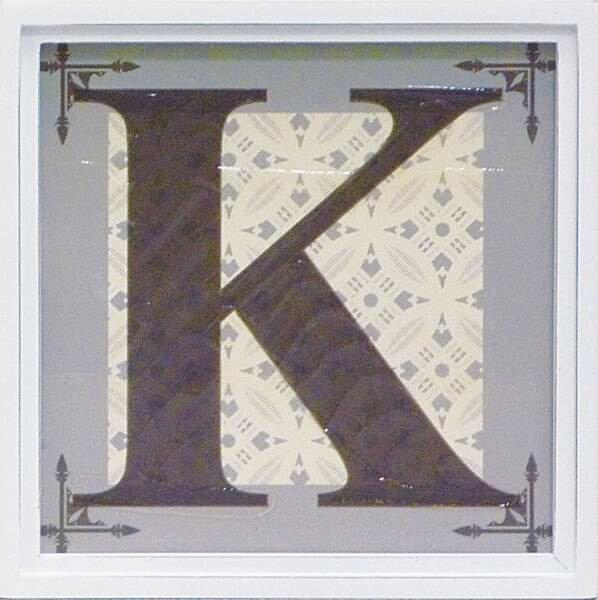 アルファベット アートフレーム K/インテリア 壁掛け 額入り 油絵 ポスター アート アートパネル リビング 玄関 プレゼント モダン アートフレーム おしゃれ【S】