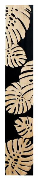ウッド スカルプチャー アート モンステラ (ブラック)/インテリア 壁掛け 額入り 油絵 ポスター アート アートパネル リビング 玄関 プレゼント モダン アートフレーム おしゃれ【L】
