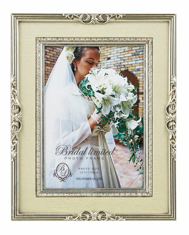 【フォトフレーム】ブライダル リミテッド フォトフレーム キャビネ(シルバー)/インテリア 壁掛け 立てかけ 記念 写真 飾り ギフト プレゼント 出産祝い 結婚祝い 写真立て おしゃれ かわいい【M】