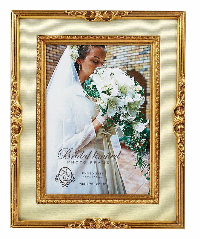 【フォトフレーム】ブライダル リミテッド フォトフレーム キャビネ(ゴールド)/インテリア 壁掛け 立てかけ 記念 写真 飾り ギフト プレゼント 出産祝い 結婚祝い 写真立て おしゃれ かわいい【M】
