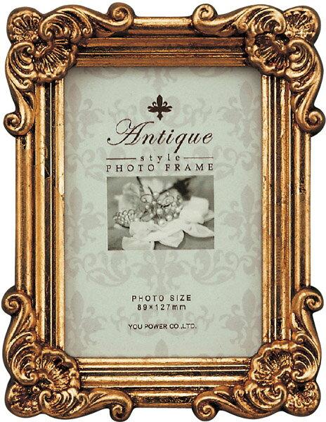 【フォトフレーム】アンティークスタイル フォトフレーム スクエア・サービス (アンティークゴールド)/インテリア 壁掛け 立てかけ 記念 写真 飾り ギフト プレゼント 出産祝い 結婚祝い 写真立て おしゃれ かわいい【S】