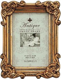 フォトフレーム アンティークスタイル フォトフレーム スクエア・サービス (アンティークゴールド)/インテリア 壁掛け 立てかけ 記念 写真 飾り ギフト プレゼント 出産祝い 結婚祝い 写真立て おしゃれ 飾る かわいい Sサイズ