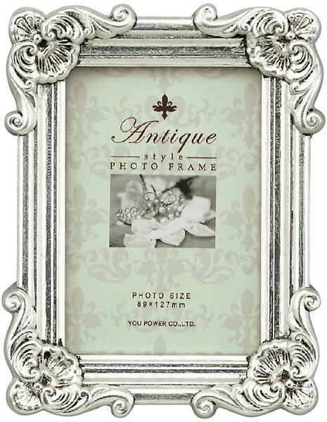 【フォトフレーム】アンティークスタイル フォトフレーム スクエア・サービス (アンティークシルバー)/インテリア 壁掛け 立てかけ 記念 写真 飾り ギフト プレゼント 出産祝い 結婚祝い 写真立て おしゃれ かわいい【S】