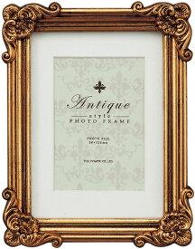フォトフレーム アンティークスタイル フォトフレーム スクエア (アンティークゴールド)/インテリア 壁掛け 立てかけ 記念 写真 飾り ギフト プレゼント 出産祝い 結婚祝い 写真立て おしゃれ 飾る かわいい Sサイズ