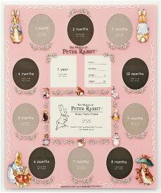 フォトフレーム ピーターラビット ガラスフォトフレーム 13ウィンドー (ピンク)/インテリア 壁掛け 立てかけ 記念 写真 飾り ギフト プレゼント 出産祝い 結婚祝い 写真立て おしゃれ 飾る かわいい Mサイズ