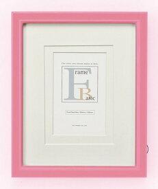 3サイズ対応フレーム ゆうパケット ダブルマット付 ピンク/インテリア 壁掛け 額入り 額装込 風景画 油絵 ポスター アート アートパネル リビング 玄関 プレゼント モダン アートフレーム おしゃれ 飾る Sサイズ 巣ごもり