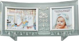 フォトフレーム メリー チャーム ガラス フォトフレーム 2ウィンドー/インテリア 壁掛け 立てかけ 記念 写真 飾り ギフト プレゼント 出産祝い 結婚祝い 写真立て おしゃれ 飾る かわいい Sサイズ