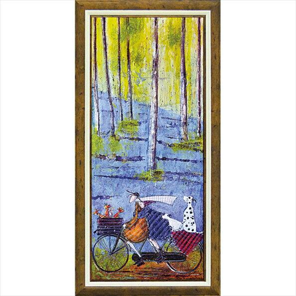 【絵画】サム トフト「スプリング」/額入り絵画・壁掛けアートは、リビングや玄関におすすめのインテリア。かわいい壁飾りはお部屋を癒やしてくれそう。バレンタイン チョコの代わりのプレゼントにも。 アートフレーム おしゃれ【L】