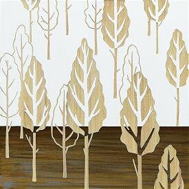 木彫りアート ウッド スカルプチャー アート「フォレスト ツリー(WH+NP)」/インテリア 壁掛け 額入り 額装込 風景画 油絵 ポスター アート アートパネル リビング 玄関 プレゼント 花 3Lサイズ 巣ごもり