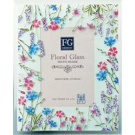 フォトフレーム FGデザイン フォトフレーム「フィールドフラワー ブルー」ゆうパケット /インテリア 卓上 フラワー 水彩画 野花 アート リビング 玄関 寝室 プレゼント 花 自然 優しい色合い Sサイズ