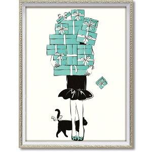 絵画 オマージュ キャンバスアート「ショッピング ガール1(Mサイズ)」 インテリア 絵 飾る おしゃれ 壁掛け 額入り モダン アート フレーム リビング 玄関 寝室 店舗 プレゼント ディスプ