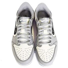 【新品】 Dior Nike ディオール ナイキ エアジョーダン1 ローカットスニーカー サイズ25.5cm ベージュ/ホワイト CN8608-002 Made In Italy【送料無料】靴 32820821