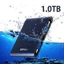 SiliconPower【シリコンパワー】 USB3.0防水対応ポータブルハードディスク1.0TB/SP010TBPHDA80S3B【送料無料】【USB…