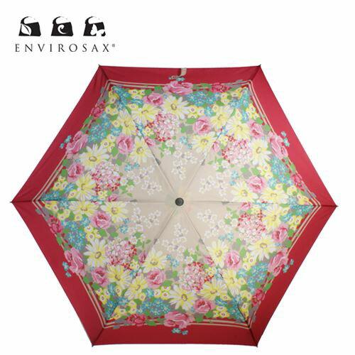 ENVIROSAX【エンビロサックス】晴雨兼用折り畳み傘 ガーデンパーティー/EVUM50FU-GP4