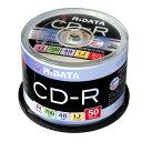 RiDATA CD-Rデータ用 48倍速 700MB プリンタブル 50枚 スピンドル/CD-R700WPX50CK C【Riジャパン】