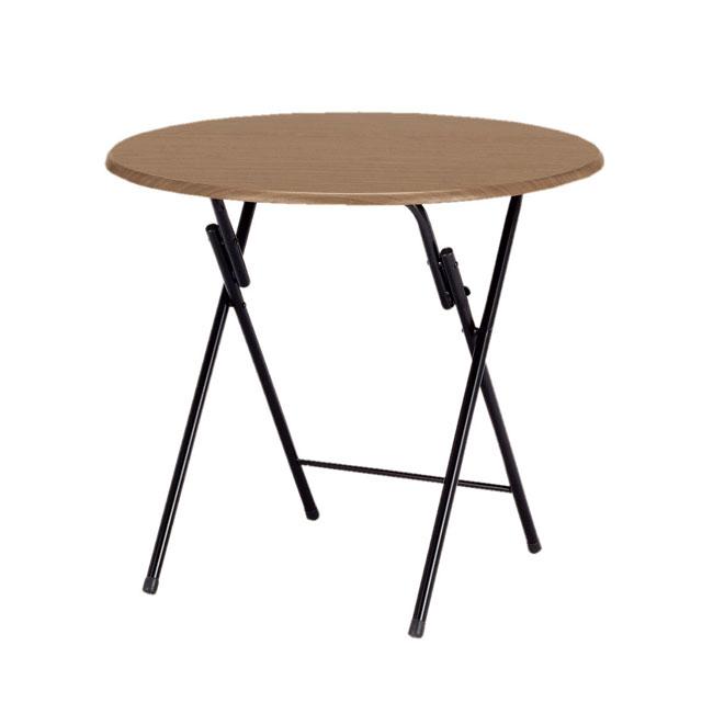 弘益 フォールディングテーブル 丸テーブル TC-800T(BR) 折り畳み