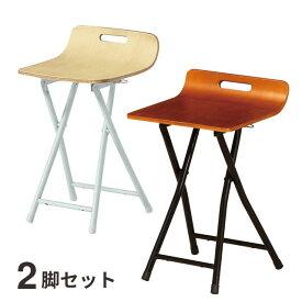 折りたたみ椅子 チェア 座面木製 弘益 プライ フォールディングチェアー2脚組 PFC-PY05x2 送料無料 弘益