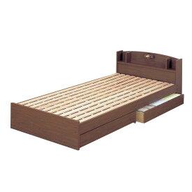 天然木 桐すのこ 木製 ベッド シングル 宮棚付き 引出し付き スノコ床 日本製 クロシオ ECO ロングベッド 14215 送料無料
