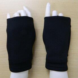 【メール便送料無料】カイロが入るハンドウォーマー 指穴 手袋指なし指とおしリストウォーマー サポーター 男女兼用 冷え性 冷房対策